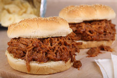 Pulled Pork Sandwichs Royalty Free Stock Image
