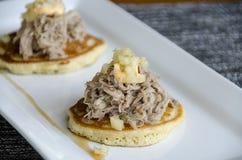 Pulled Pork slider Appetizer Royalty Free Stock Photos