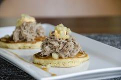 Pulled Pork slider Appetizer Stock Photo