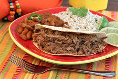 Pulled Pork Taco Dinner Royalty Free Stock Photo