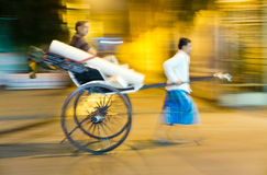 Pulled rickshaw Royalty Free Stock Images