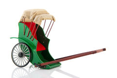Pulled rickshaw Royalty Free Stock Image