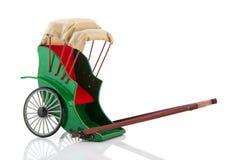 Pulled rickshaw royalty free stock image