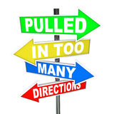 Pulled in Too Many Directions Signs Stress Anxiety stock illustration