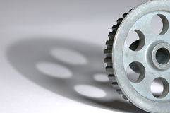 Pulley. For belt drive in engines Royalty Free Stock Image