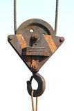 Pulley. Isolated pulley Stock Photography