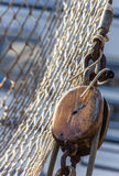 Pulley. Of an old ship in the center of Groningen, the Netherlands Royalty Free Stock Images
