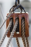 Pulley. Of an old ship in the center of Groningen, the Netherlands Royalty Free Stock Image