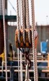 pulley arkan żaglówka Fotografia Stock