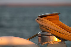 Pulley on a Boat Stock Photo