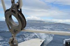 Catamaran Pulley Stock Photo