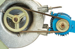 Pulley and motor Stock Photo