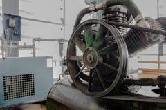 Pulley na lotniczym kompresorze Fotografia Stock