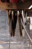 pulley od maszyny ciężkie - maszyna młotkować stosy w budowy drogowym złączu w Moskwa Zdjęcie Stock