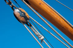 Pulley On Fishing Boat Royalty Free Stock Photo