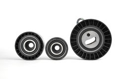 Pulley, roller and tensioner Stock Image