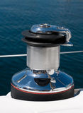Pulley without rope. Pulley on a sailboat without rope Royalty Free Stock Photography