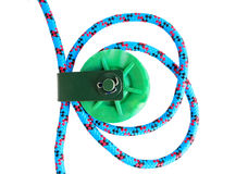Pulley with rope Stock Images