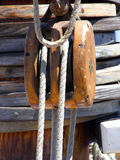 Pulley and Ropes Stock Photo