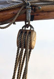 Pulley on a Sailboat Stock Photography
