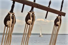 Pulley on a sailboat Royalty Free Stock Photo