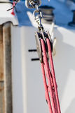 Pulley Sailing Ropes and detail Stock Photography