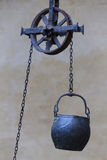 Pulley on the shaft Stock Photography