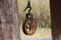 Pulley of well Royalty Free Stock Photos