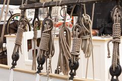 Pulleys Royalty Free Stock Photo