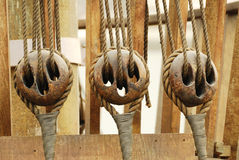 Pulleys Stock Photography