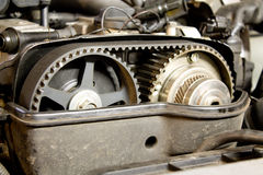 Pulleys of camshafts Stock Photos