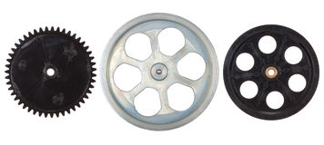 Pulleys, gears Stock Photography