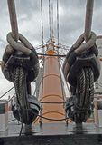 Pulleys of historic ship Victory Royalty Free Stock Image