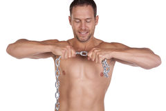 Pulling chain Stock Images