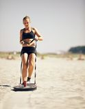 Pulling A Crossfit Sled Royalty Free Stock Image