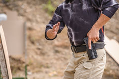 Pulling Gun Training Royalty Free Stock Images