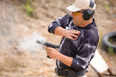 Pulling Gun Training Royalty Free Stock Photos