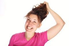 Pulling hair Royalty Free Stock Photo