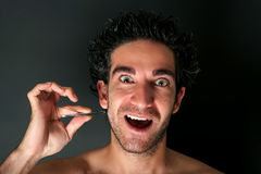Pulling hair with tweezers Stock Image