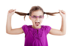 Pulling her hair out Royalty Free Stock Images