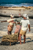 Pulling the nets from the sea Royalty Free Stock Photography