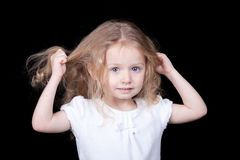 Pulling Out My Hair Royalty Free Stock Photos