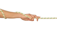 Pulling of a rope Royalty Free Stock Photos