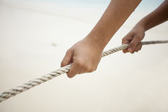 Pulling rope Royalty Free Stock Photos