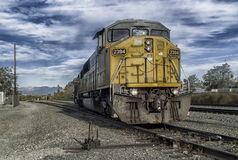 Pulling on to the Siding Stock Photos
