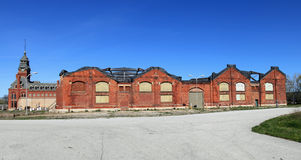 Pullman Factory Ruins. Historic Pullman Factory panorama, where train cars were manufactured Stock Photo