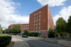 Pullman hotel - Dortmund Germany. This upscale hotel is located in central Dortmund and offers easy access to trade fairs at nearby Westfalenhallen and the Royalty Free Stock Photos