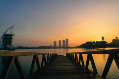 Pullman Lakeside. Sunrise at Pullman Lakeside Putrajaya Royalty Free Stock Photos