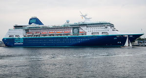 Pullmantur Empress cruise ship. Image of the large and beautiful, luxury cruise ship Pullmantur Empress. Its under the flag of Malta, Pullmantur cruises as a Royalty Free Stock Photography
