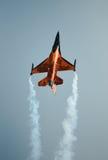 Pullover de F-16 Oange Photographie stock libre de droits